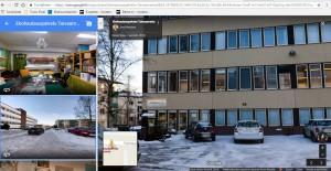 Ekohautauspalvelu Taivaanranta, Yrjönkatu 35, 40100 Jyväskylä. Näkymä toimiston suuntaan Yrjönkatu 35 kohdalta.